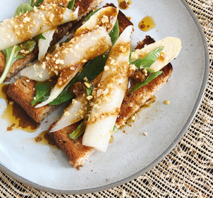 White Asparagus with Mala Spice Mix Vinaigrette Tapa - Donostia Foods