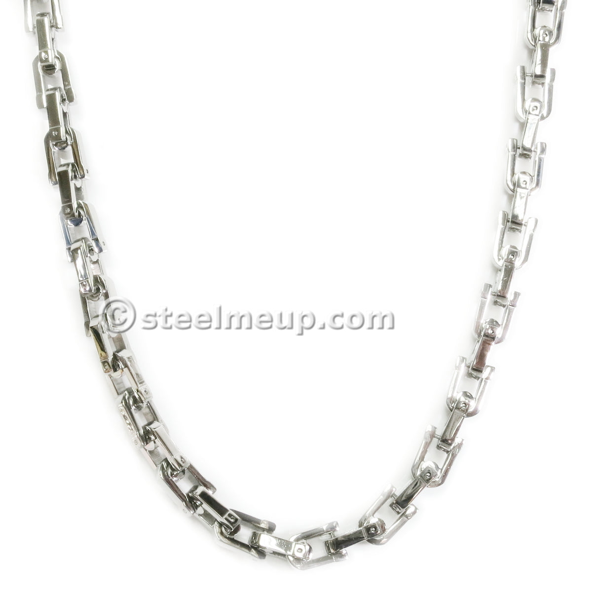 Stainless Steel Thick Link Chain Necklace 9mm