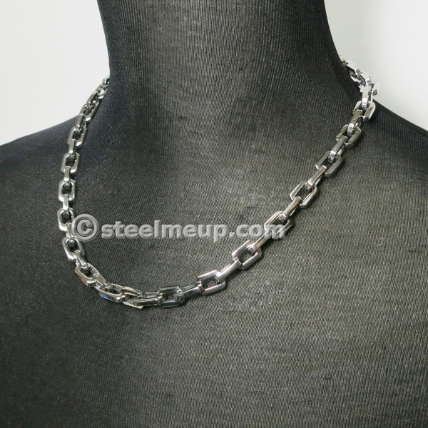 Stainless Steel Thick Cable Chain Necklace 10mm