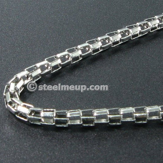 Stainless Steel Lantern Chain Necklace