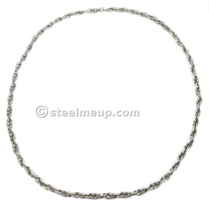 Stainless Steel Strip Wire Loose Rope Chain Necklace 5mm