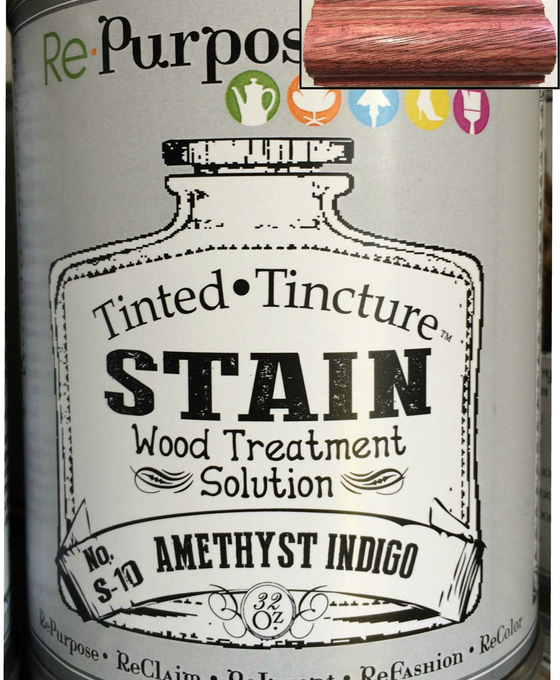 Tinted•Tincture Stain Wood Treatment Solution- Amethyst Indigo