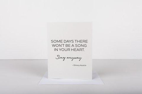 Wrinkle & Crease Sing Anyways Card