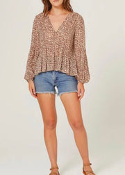 Auguste The Label Nomad Helena Blouse - Tan