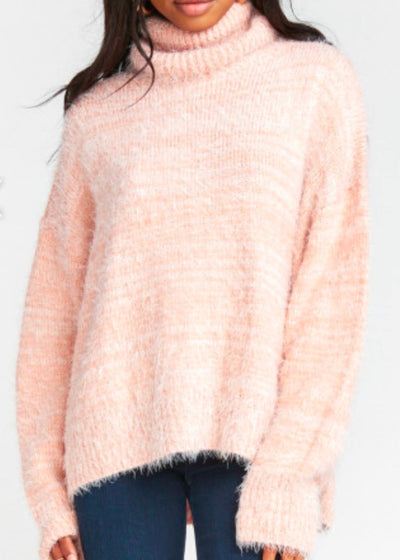Show Me Your Mumu Fatima Turtleneck Fuzzy Pink