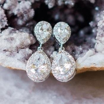 Our Bestsellers List As Chosen By Our Real Brides - Jodie Earrings