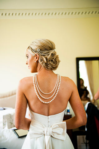 Real Bride, Custom Made Backlace