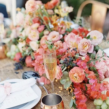Spring Wedding Table Decor