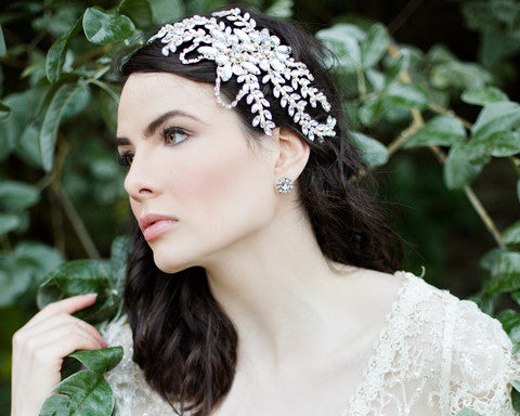Dahlia Wedding Headpiece