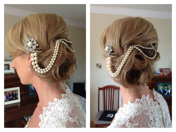 Alex Pearl Bridal Hair Drape