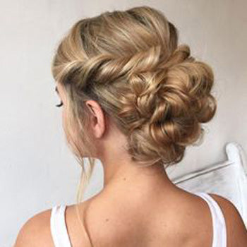 Curled Up-style Wedding Hair
