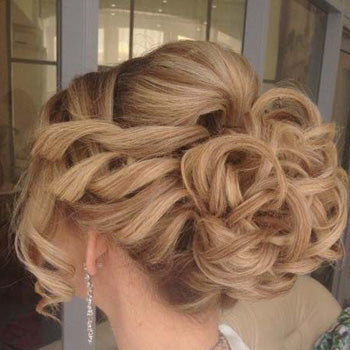 Curly Up-Style Wedding Hair