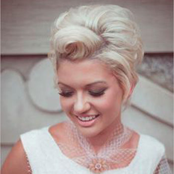 Bouffant Wedding Day Hair