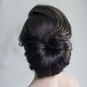 Large Bun Wedding Hair