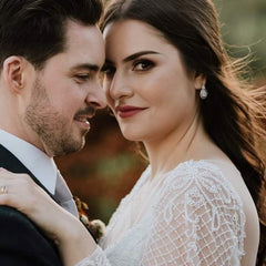 Real Bride Wears Bella Earrings