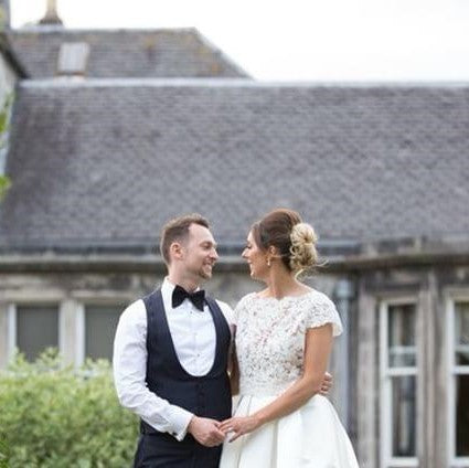 Bride Louise Wears Sorrento earrings