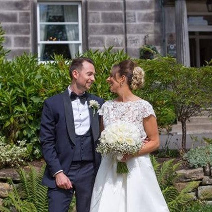 Real Bride Louise Wears Sorrento Earrings