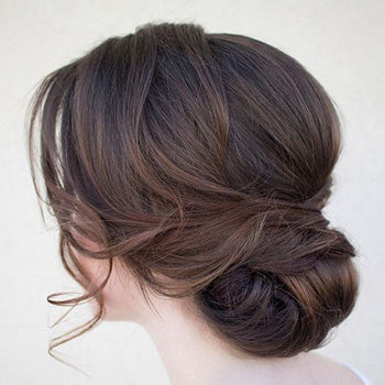 Low Bun Wedding Day Hair