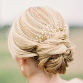 Twisted Bun Wedding Hair