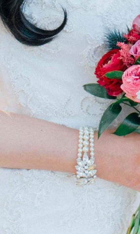 Real Bride Wears Lucia Bracelet