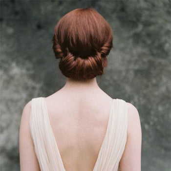 Rolled Bun Wedding Hair