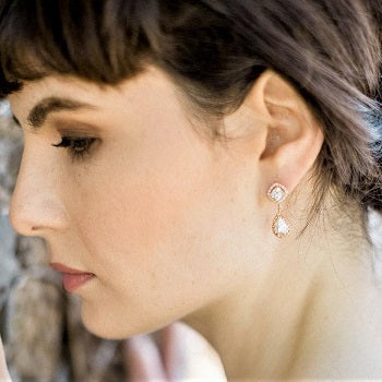 Heather Rose Gold Earrings