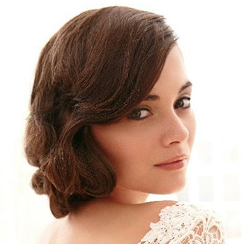 Wavy Styled Side Wedding Hairstyle