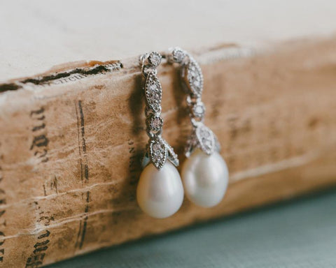 Beverly Freshwater Pearl Vintage Wedding Earrings
