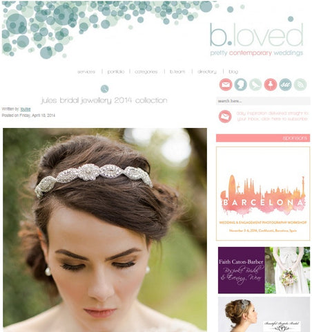 Bloved Bridal Blog, Jules Feature