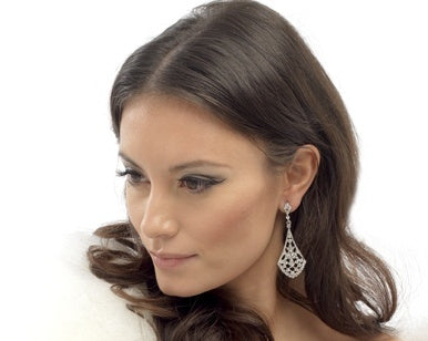 Wedding Crystal Tulip Earrings