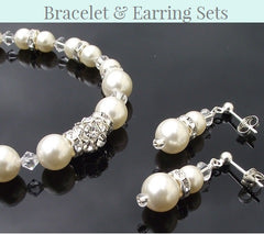 Bridesmaids Bracelet & Earring Sets