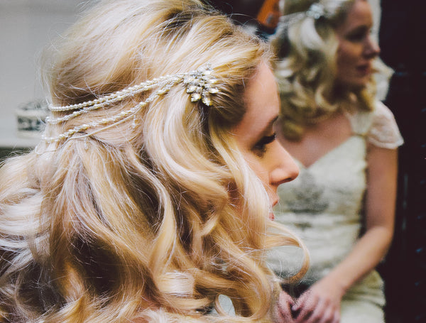 Custom-Made Marina Wedding Hair Drape