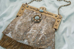 Cathy White Vintage Handbag Wedding