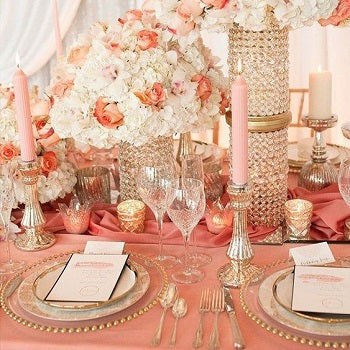 Coral Table Settings