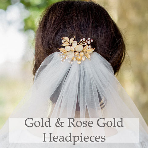 Gold & Rose Gold Headpieces