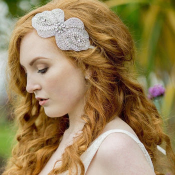 Maggie Applique Wedding Headband