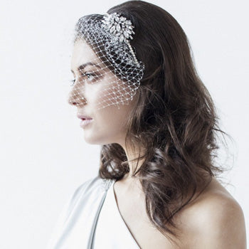 Abigail Birdcage Veil and Headband
