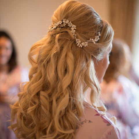 Louise Silver Hair Vine Real Bride