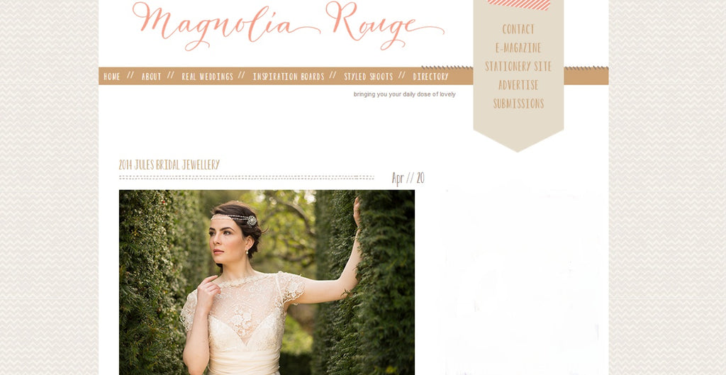 Magnolia Rouge Wedding Blog Feature