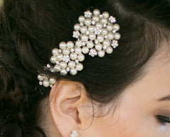 Pearl Wedding Hair Comb Meredith