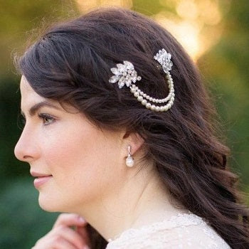Marina B Draping Pearl Headpiece