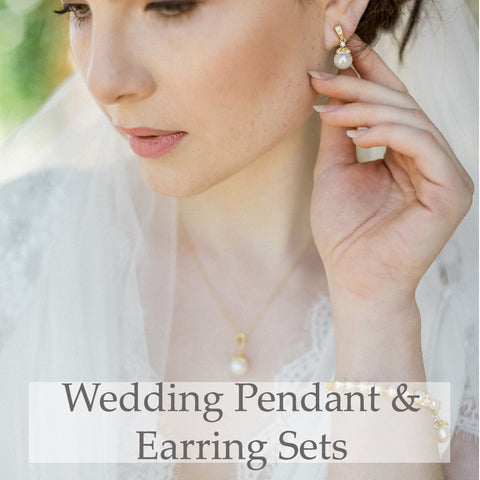 Wedding Pendant & Earring Sets