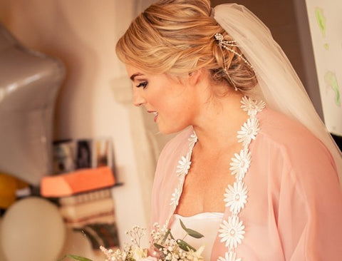 Real Bride Catherine Headpiece