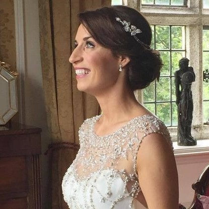 Laura wears Camomile Headpiece