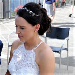 real bride wears anastasia bracelet