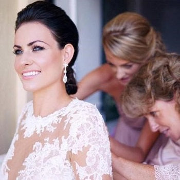 Real Bride Wears Abigail Earrings