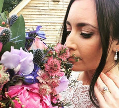 Real bride Sarah wears BEverly EArrings