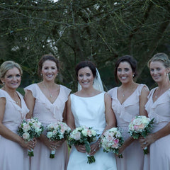 bridesmaids wearing Ariel set