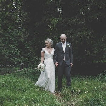 Real Bride Sinead Wearing Eliza