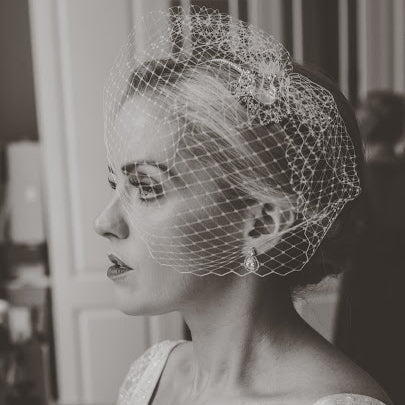 Real Bride Wears Eliza Veil